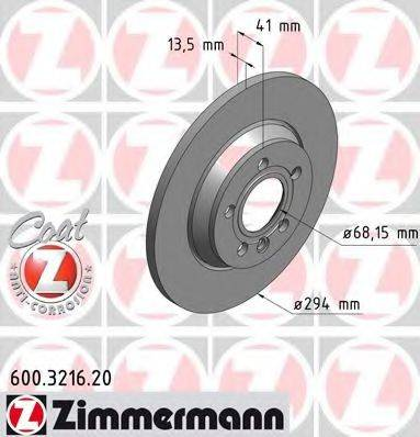 ZIMMERMANN 600321620 Тормозной диск