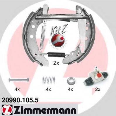 ZIMMERMANN 209901055 Тормозные колодки барабанные