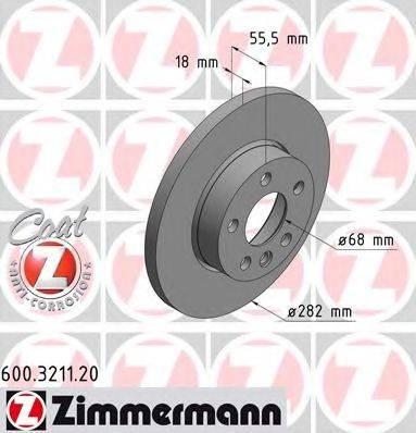 ZIMMERMANN 600321120 Тормозной диск