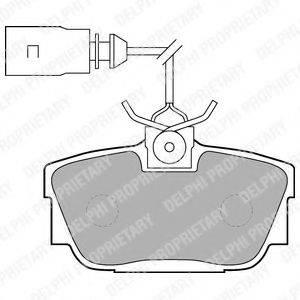 DELPHI LP1541 Тормозные колодки