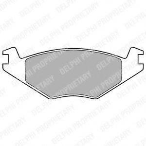 DELPHI LP760 Тормозные колодки