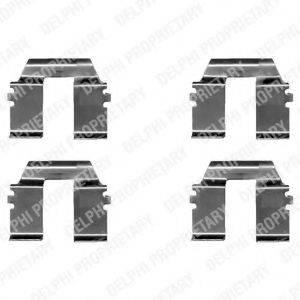 DELPHI LX0325 Комплектующие, колодки дискового тормоза