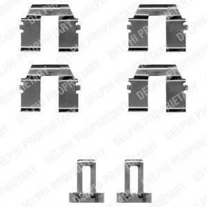 DELPHI LX0335 Комплектующие, колодки дискового тормоза