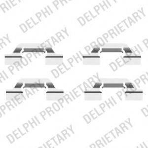DELPHI LX0438 Комплектующие, колодки дискового тормоза