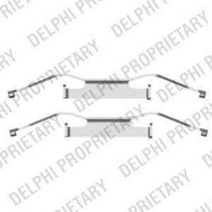 DELPHI LX0439 Комплектующие, колодки дискового тормоза
