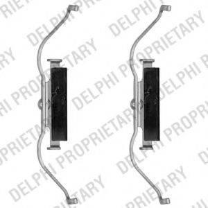 DELPHI LX0490 Комплектующие, колодки дискового тормоза