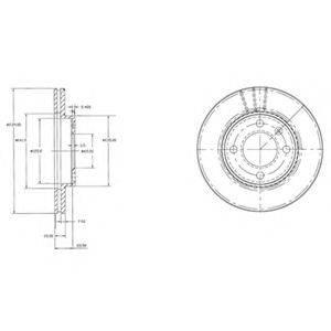 DELPHI BG2109 Тормозной диск