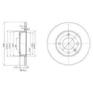 DELPHI BG2117 Тормозной диск