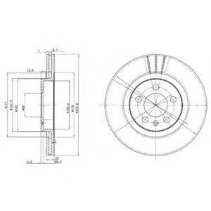 DELPHI BG3036 Тормозной диск