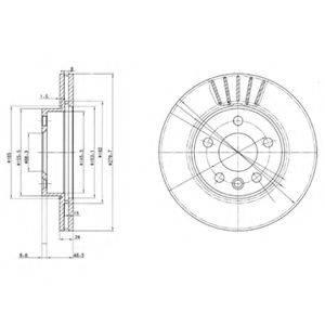DELPHI BG3417 Тормозной диск