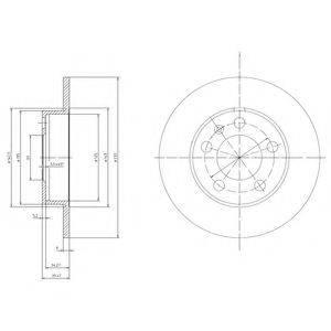 DELPHI BG3034C Тормозной диск