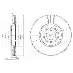 DELPHI BG3035C Тормозной диск
