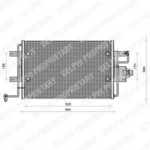 DELPHI TSP0225113 Конденсатор кондиционера