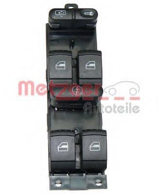 METZGER 0916007 Выключатель, фиксатор двери; Выключатель, стеклолодъемник