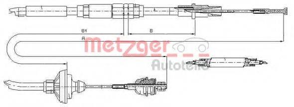 METZGER 103149 Трос сцепления