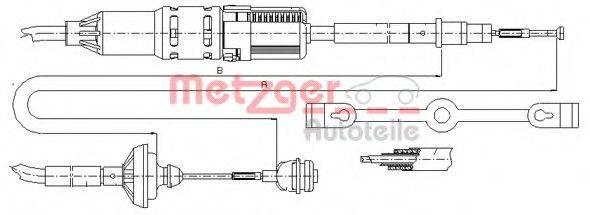 METZGER 103211 Трос сцепления