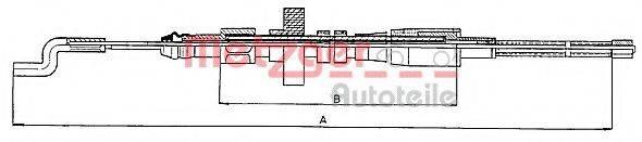 METZGER 107391 Трос, стояночная тормозная система