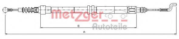 METZGER 107393 Трос, стояночная тормозная система