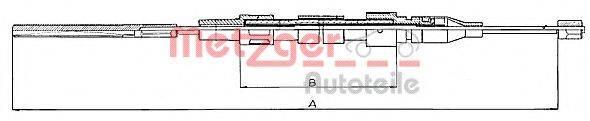 METZGER 10744 Трос, стояночная тормозная система