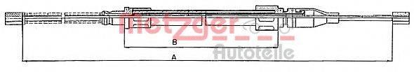 METZGER 10745 Трос, стояночная тормозная система