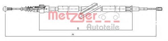 METZGER 107506 Трос, стояночная тормозная система