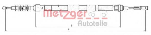 METZGER 107620 Трос, стояночная тормозная система