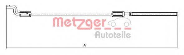 METZGER 107621 Трос, стояночная тормозная система