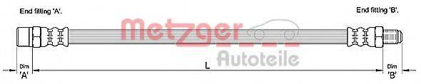 METZGER 4110257 Тормозной шланг