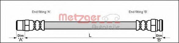 METZGER 4112520 Тормозной шланг