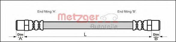 METZGER 4111351 Тормозной шланг