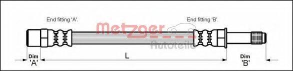 METZGER 4112516 Тормозной шланг