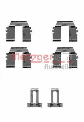 METZGER 1091233 Комплектующие, колодки дискового тормоза