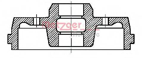METZGER BT7110 Тормозной барабан