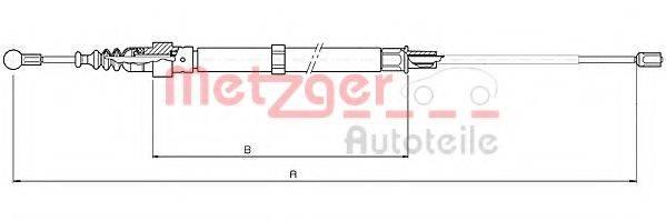 METZGER 107508 Трос, стояночная тормозная система