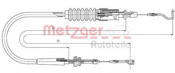 METZGER 144304 Тросик газа