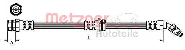 METZGER 4110264 Тормозной шланг