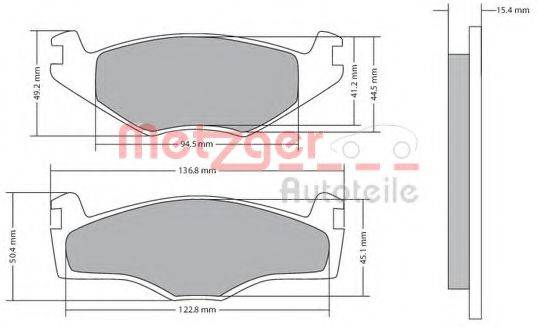METZGER 1170136 Тормозные колодки