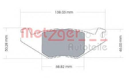 METZGER 1170257 Тормозные колодки