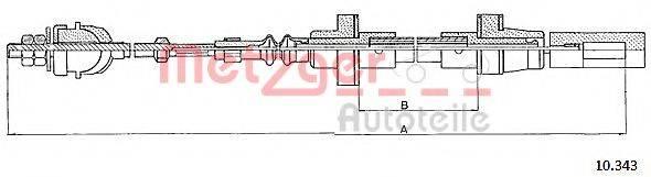 METZGER 10343 Трос сцепления