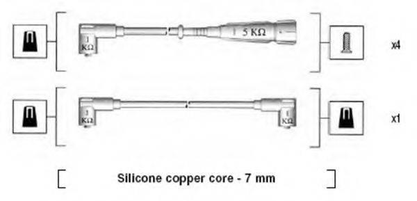 MAGNETI MARELLI 941175100752 Комплект проводов зажигания