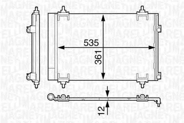 MAGNETI MARELLI 350203602000 Конденсатор кондиционера