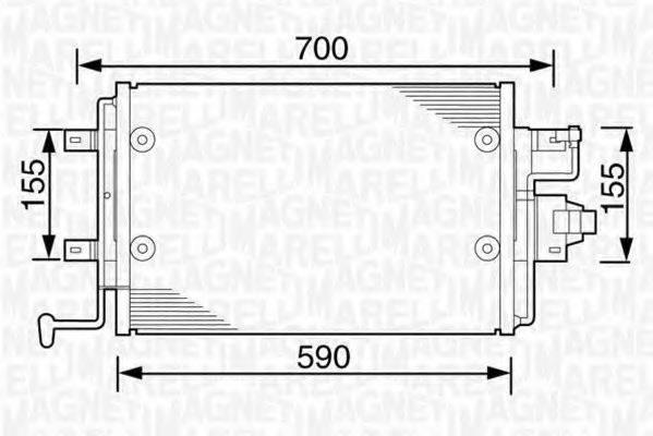 MAGNETI MARELLI 350203238000 Конденсатор кондиционера