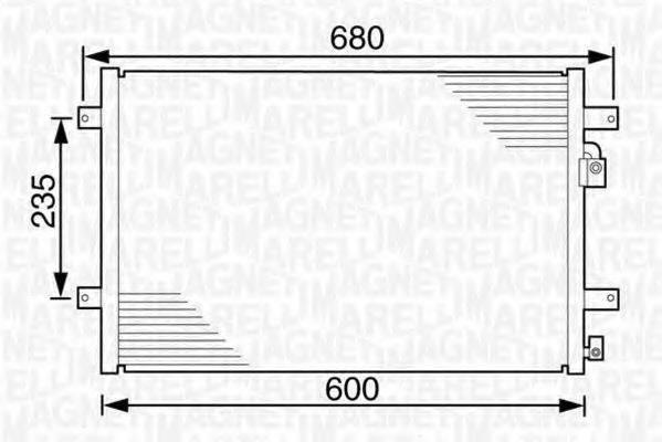 MAGNETI MARELLI 350203239000 Конденсатор кондиционера