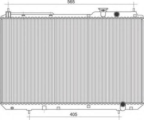 MAGNETI MARELLI 350213109900 Радиатор охлаждения двигателя