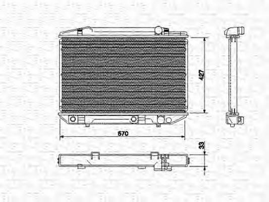 MAGNETI MARELLI 350213531000 Радиатор охлаждения двигателя