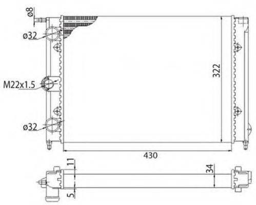 MAGNETI MARELLI 350213201003 Радиатор охлаждения двигателя