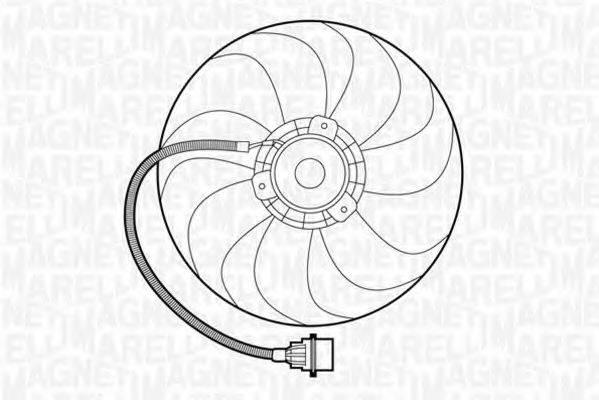 MAGNETI MARELLI 069422272010 Вентилятор системы охлаждения двигателя